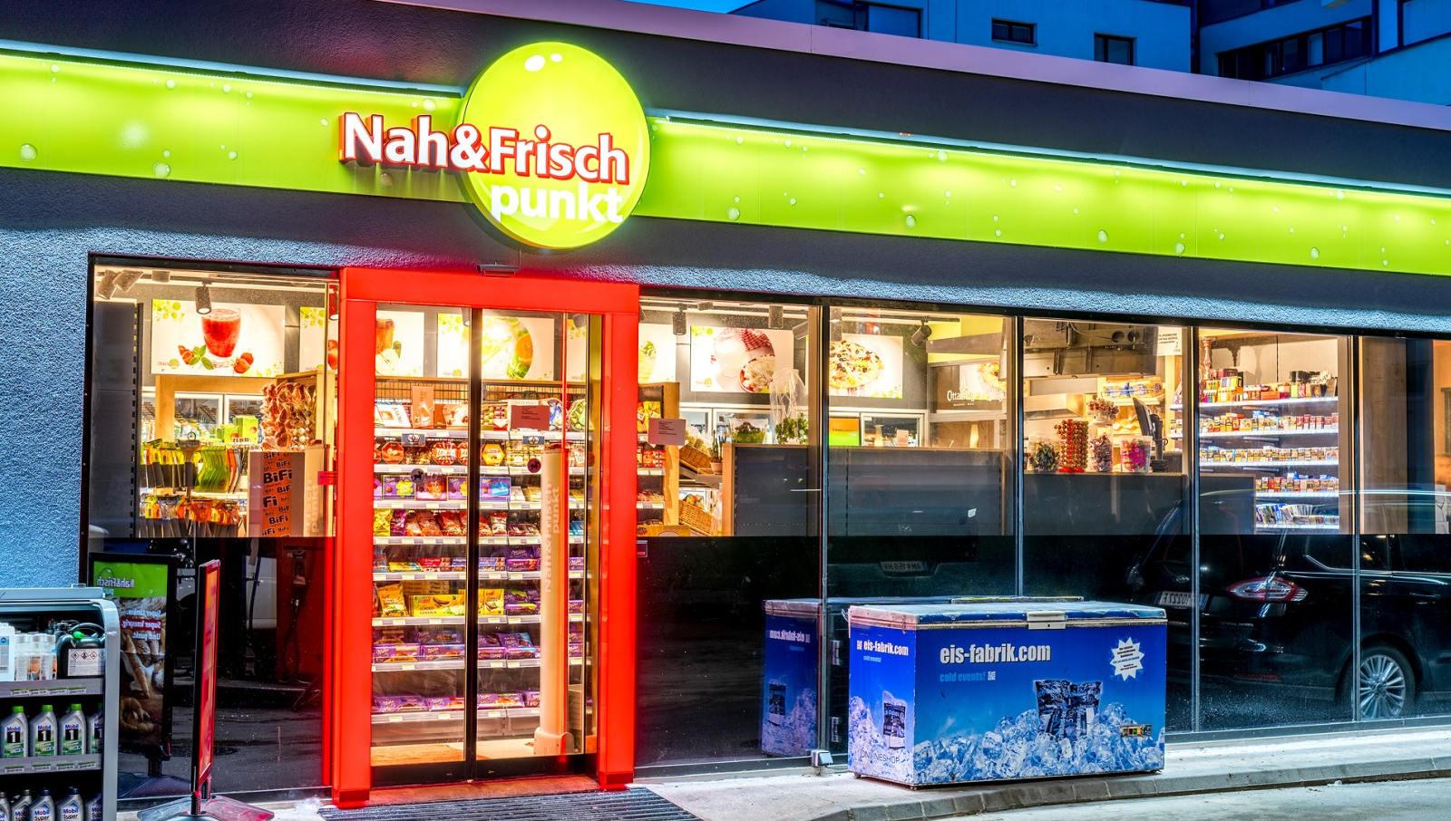 Nah&Frisch punkt in Wien 21, Baldiagasse. © Reinhard Podolsky/mediadesign.at
