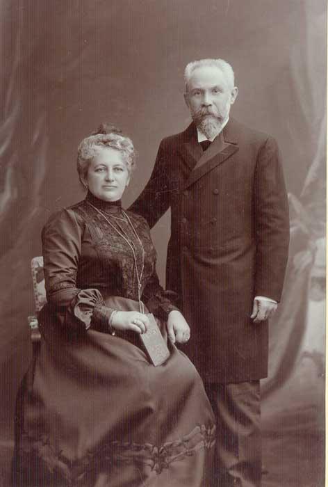 1877 - Julius Kiennast d.Ä. mit seiner Frau Rosa