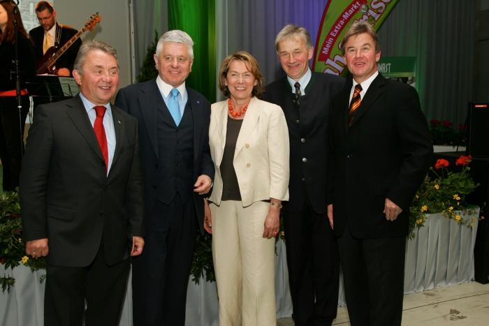2007 - Eröffnung Logistikzentrum Gars KR Julius Kiennast, LH-Stv. Ernest Gabmann, Präs. Sonja Zwazl, Raimund Kiennast, Mag. Herbert Kiennast