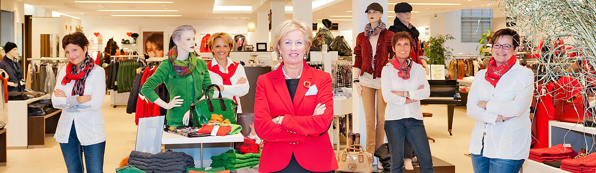 Das Kiennast Modeteam unter der Leitung von Christiana Kiennast.