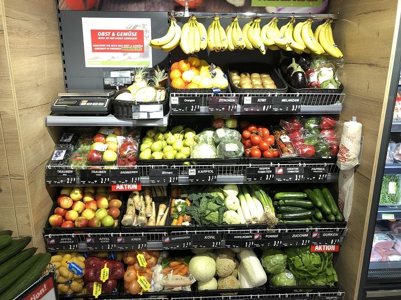 Ein feines Obst&Gemüse-Sortiment wartet auf unsere Kunden.