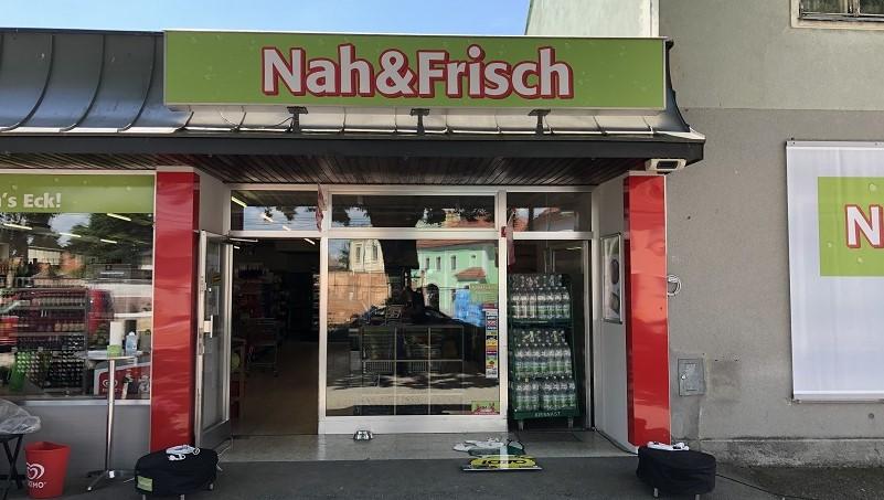 Das Eingangsportal zum neu adaptierten Nah&Frisch Standort in Wagram o.d. Traisen.